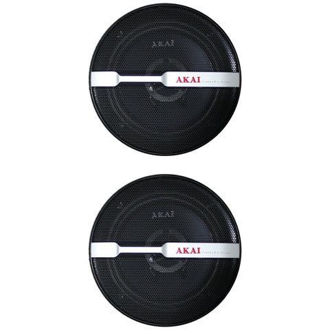 "AKAI AK-SP-628 Audiophile Cone 6"" 2-Way Coaxial Speaker 25W Rated/200W Peak"