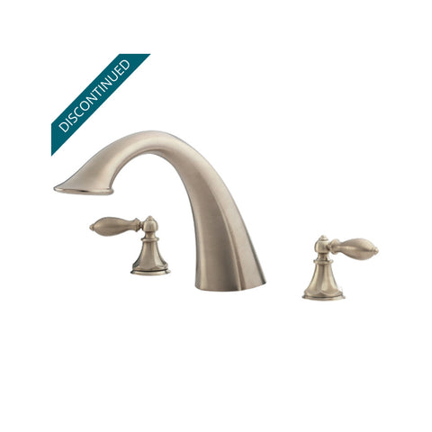 PRICE PFISTER RT6-E0XK Catalina™ 3-Hole 2-Handle Roman Tub Faucet Brushed Nickel