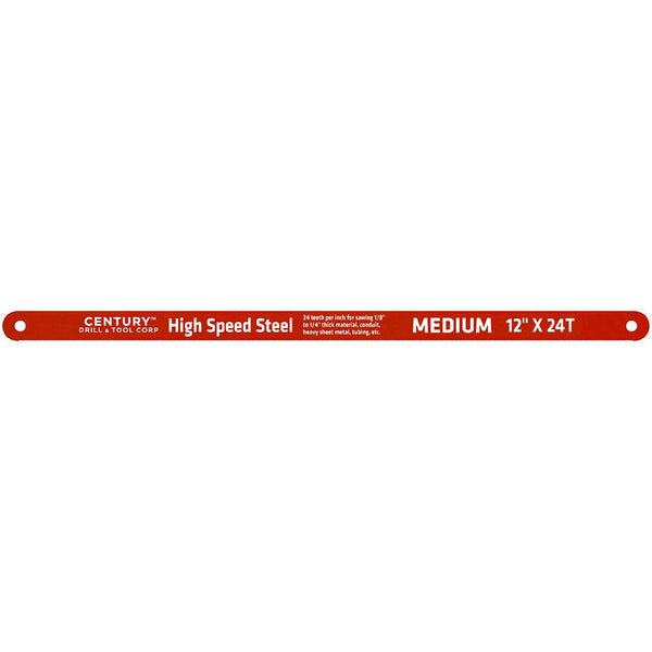 "CENTURY TOOL 04338 Wavy Tooth Pattern High Speed Steel 12"" Hacksaw Blade 24TPI"