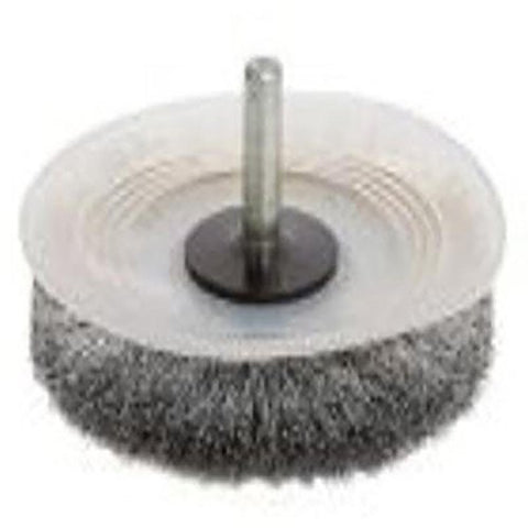 "FORNEY 60019 Light Duty 1/4"" Shank 3"" Stem/Crimped Wire Wheel Brush Paint/Rust"