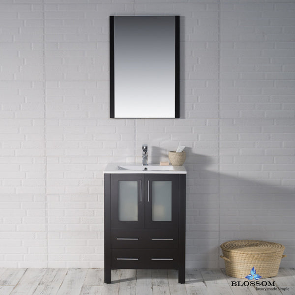 "BLOSSOM 001-24-02 Sydney 24"" Vanity Set with Mirror Espresso"