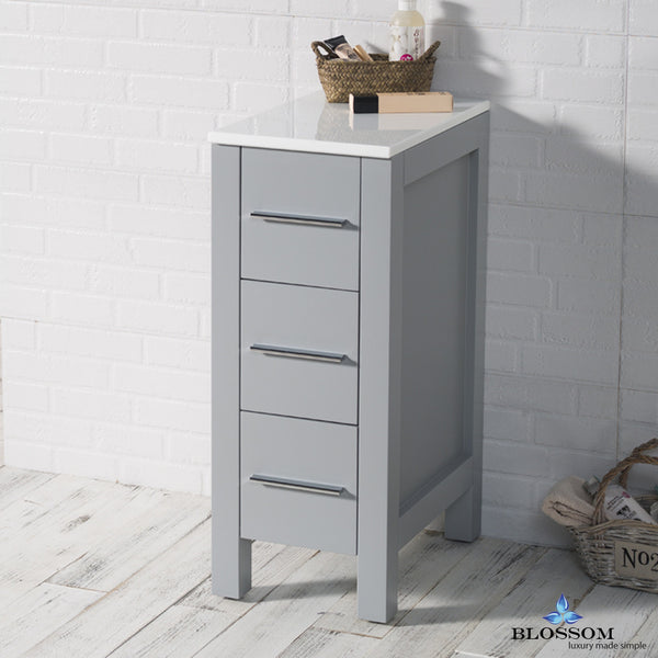 "BLOSSOM S8001-12-15 Sydney 12"" Side Cabinet Metal Gray"
