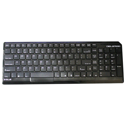 E-BLUE EKM064BK Delgado Ultra Slim Chocolate Mini Keyboard Windows/MAC