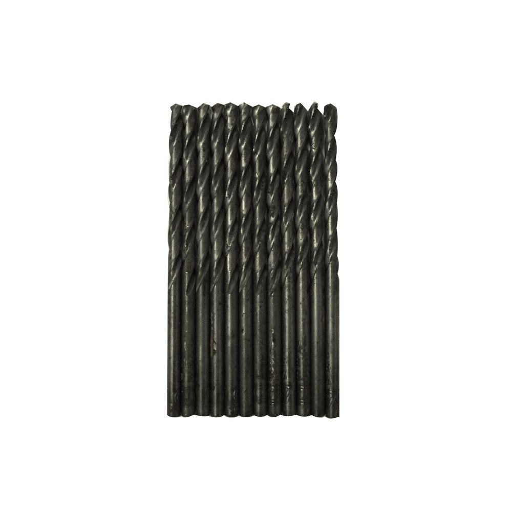 "CENTURY TOOL 24108 Black Oxide HSS General Purpose 1/8"" x 2-3/4"" Drill Bit 12PK"