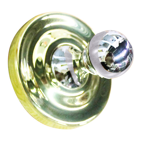FRANKLIN BRASS 4501PBPC Prestige Concealed Screw Single Robe Hook Polished Brass
