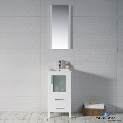 "BLOSSOM 001-18-01 Sydney 18"" Vanity Set with Mirror Glossy White"