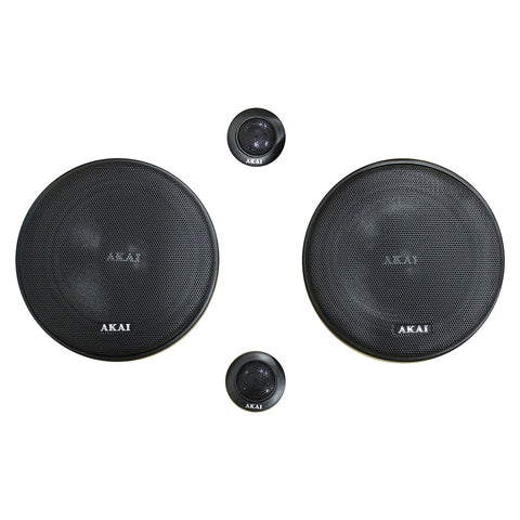 AKAI AK-SP-650C Audiophile Cone 6.5-inch 2-Way Component Speaker 25W Rated/320W Peak