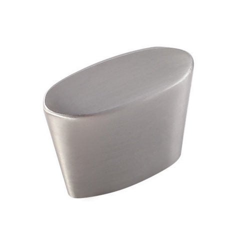 "VIGO VG18012BSN 1-3/8"" x 7/8"" Oblong Peg Cabinet Knob Satin Nickel Finish"