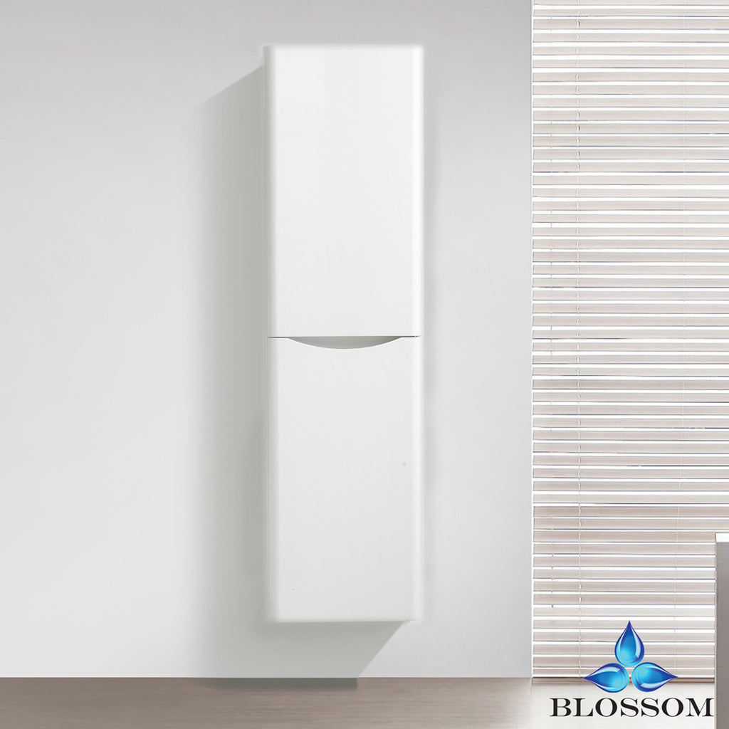 "BLOSSOM S8007-16-08 Madrid 16"" Side Cabinet White Wood"