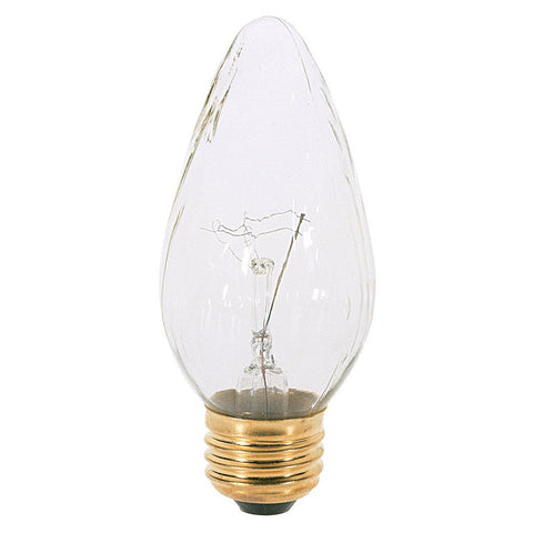 SATCO S2763 E 26 Medium Base 180 Lumens Incandescent Bulb Clear 25W 120V 2PK