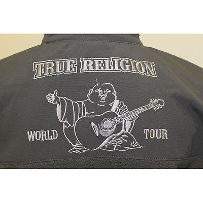 TRUE RELIGION Basic Zip Top Designed Gray Jackets Coats Womens/Junior Sizes