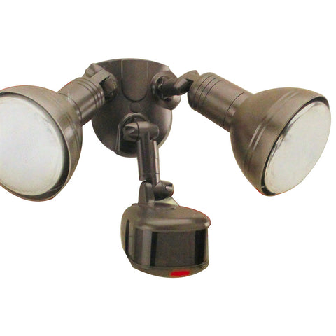 REGENT SV275RB Digital 270° Motion Activated Security Floodlight w/Bulbs Bronze