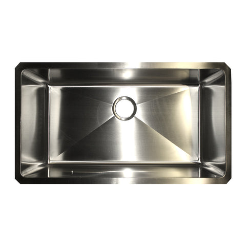 KINDRED KSUS33A/10/25BG Single Bowl Farmhouse Kitchen Sink Satin Stainless Steel