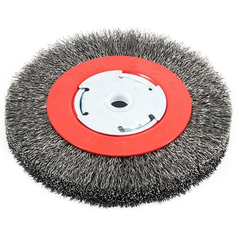 "FORNEY 72750 .012"" x 6"" Narrow Face Wire Bench Wheel Brush  1/2"" - 5/8"" Arbor"