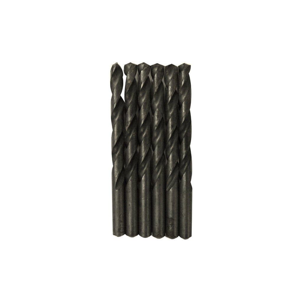 "CENTURY TOOL 24127 Black Oxide HSS General Purpose  27/64"" x5-3/8"" Drill Bit 6PK"