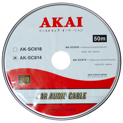 AKAI AK-SC814 14 Gauge 133pcs x0.12mm 4 x8mm OD Car Audio Speaker Cable CCA x 2C