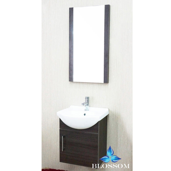 "BLOSSOM 011-18-05 Naples 18"" Vanity Set with Mirror Gray Oak"