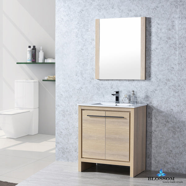 "BLOSSOM 014-30-20-M Milan 30"" Vanity Set with Mirror Briccole Oak"