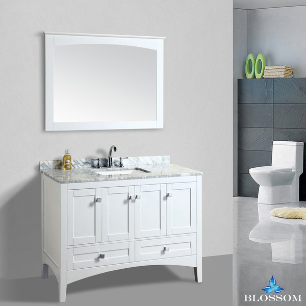 "BLOSSOM 003-48-01 Dubai 48"" Vanity Set with Mirror White"