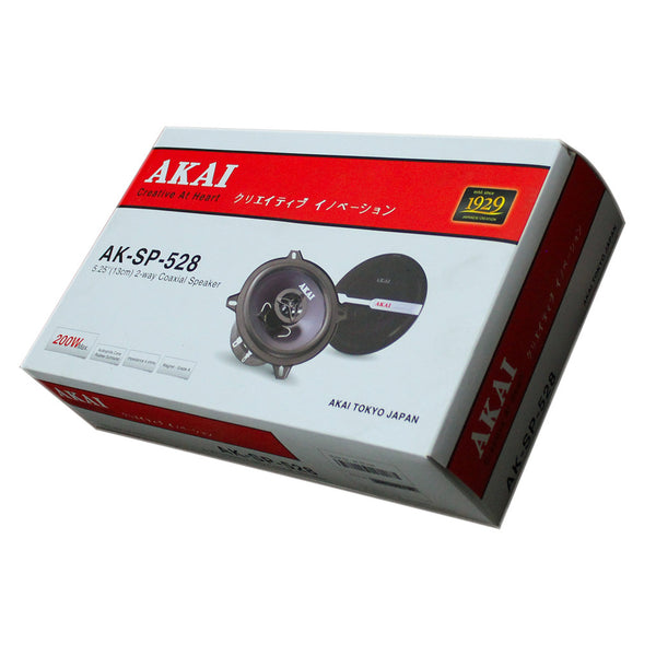 "AKAI AK-SP-528 Audiophile Cone 5.25"" 2-Way Coaxial Speaker 25W Rated/200W Peak"