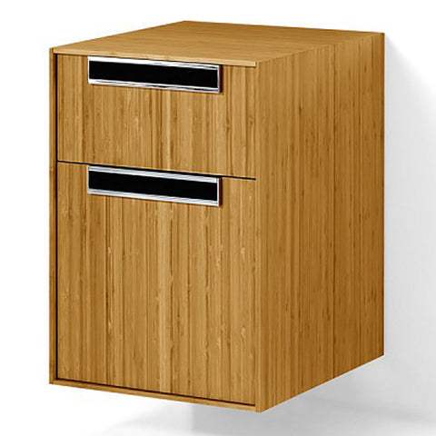 LINEABETA 81123.03 Canavera Solid Wood Side Cabinet w/ Drawers Natural Bamboo