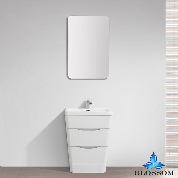 "BLOSSOM 006-26-08 Venice 26"" Vanity Set with Mirror White Wood"