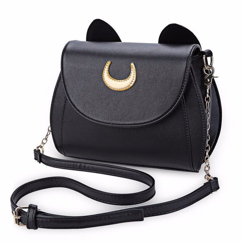 Cat Shape Black Handbag