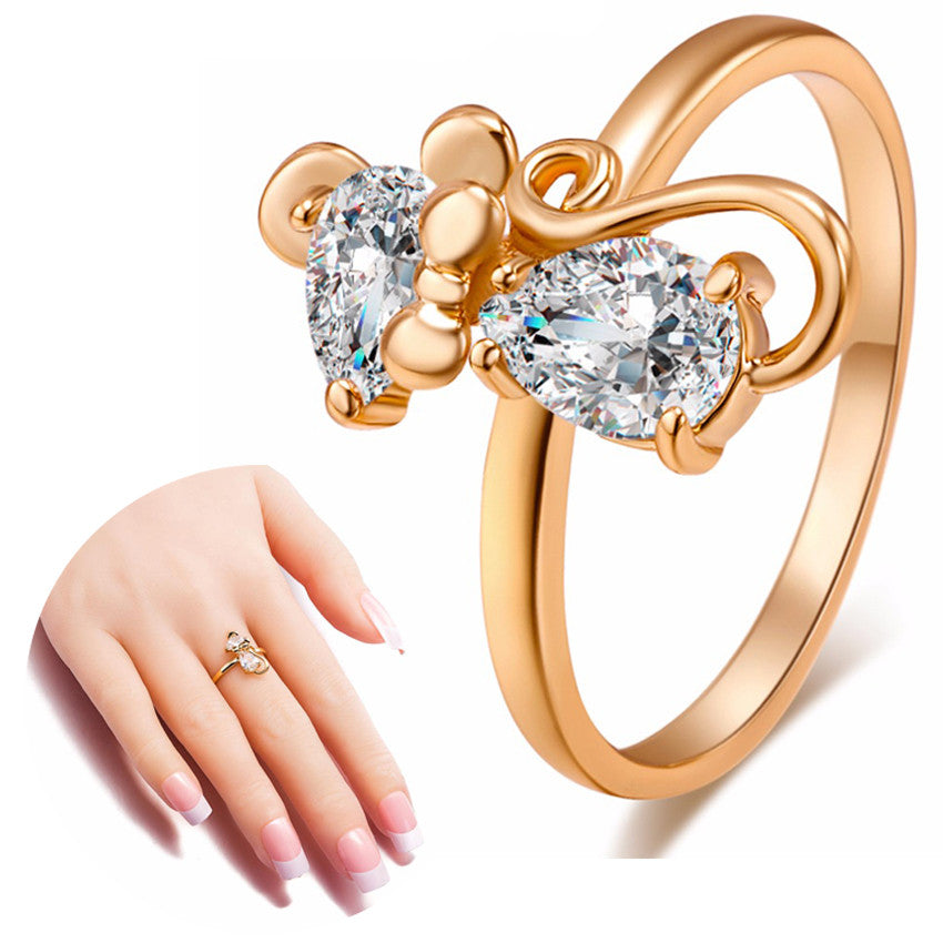 Super Cute Crystal Gold Cat Ring For Women and Girls – Black Paw Store
