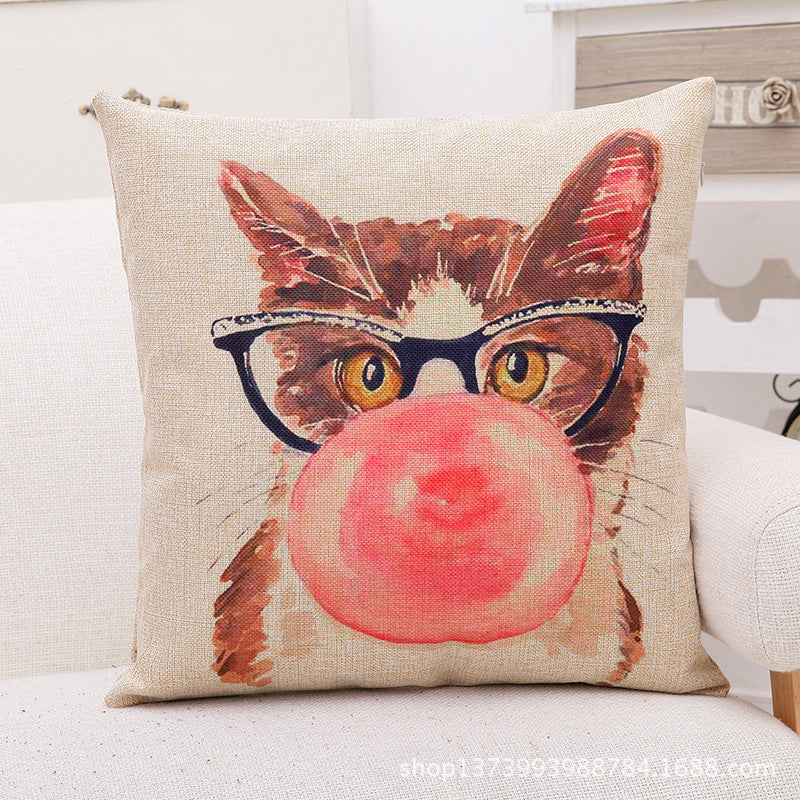 Cute Cat Cushion Cover - Black Paw Store