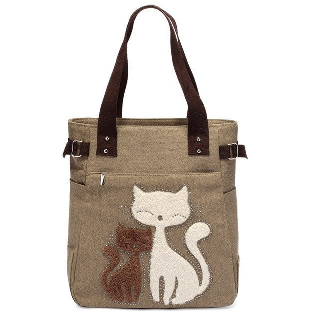 Cute Cat Women Handbag - Black Paw Store