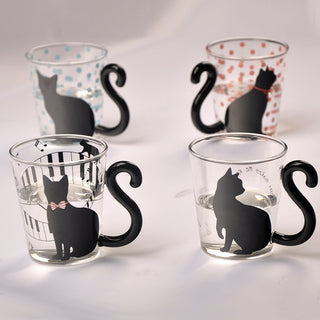Cute Cat Glass Mug - Black Paw Store