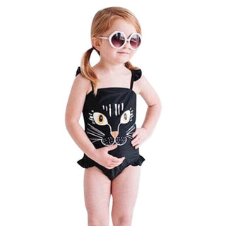 Girls Cat Swimwear - Black Paw Store
