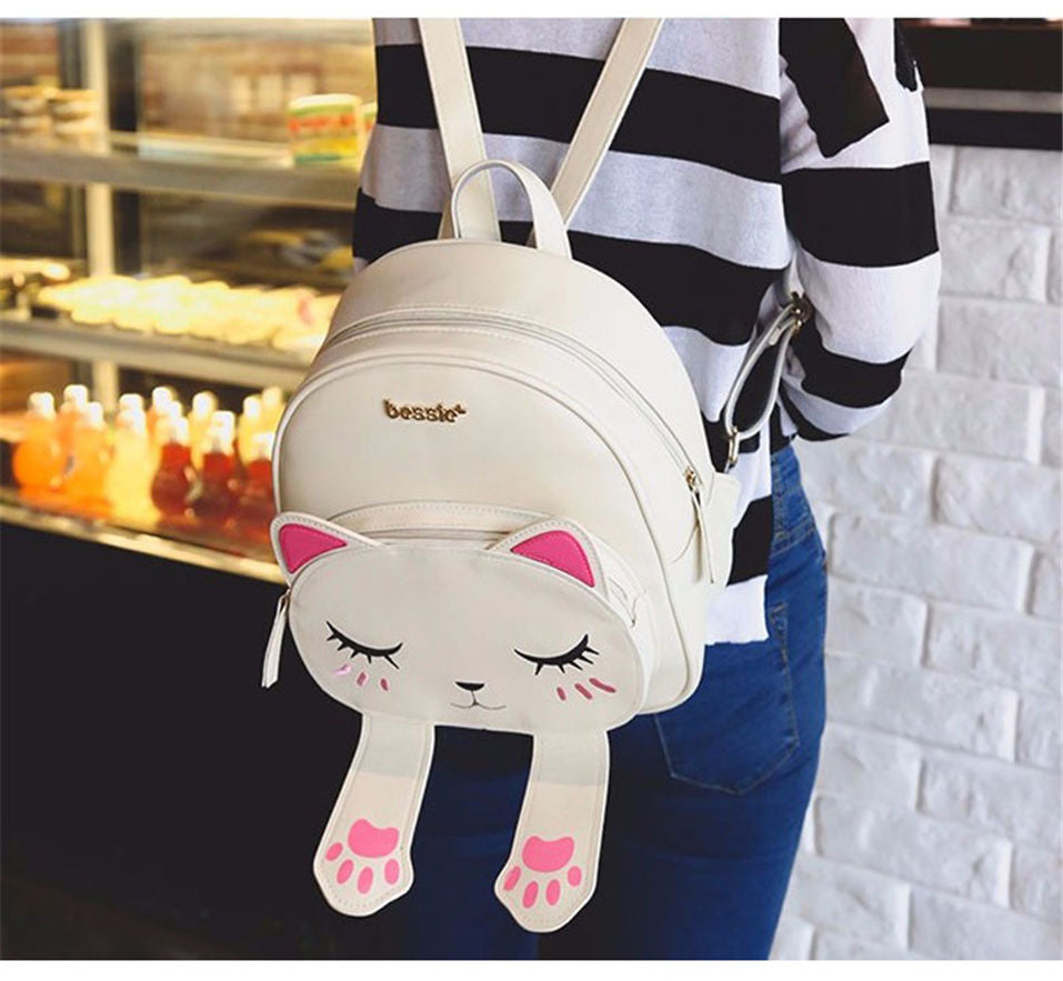 Cute Cat Backpack - Black Paw Store