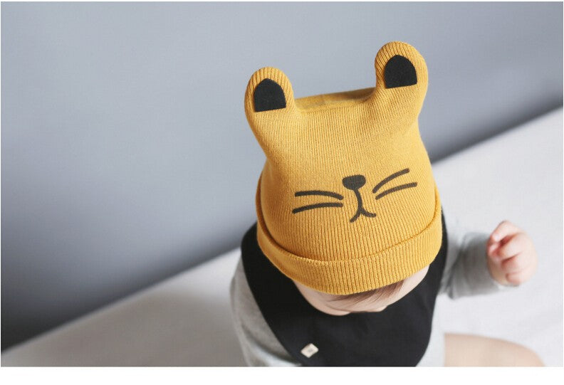 Knitted Baby Hats with Cat Ears - Black Paw Store