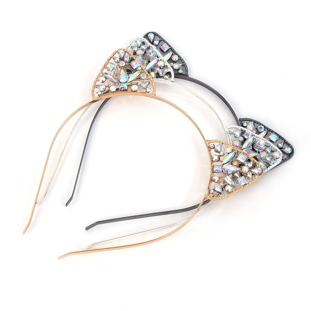 Beautiful Crystal Cat Ears for Women - Black Paw Store