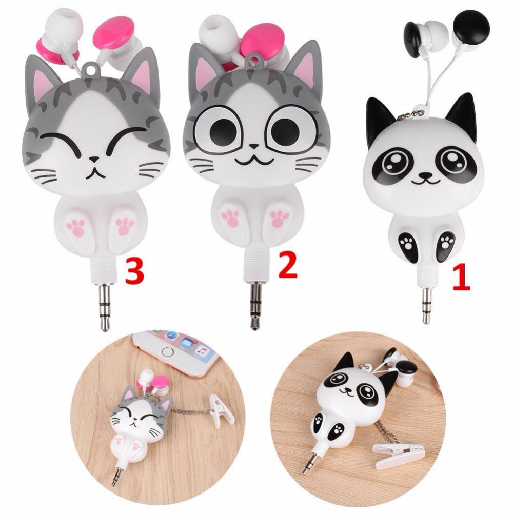 Cute Cat Cartoon Earphones