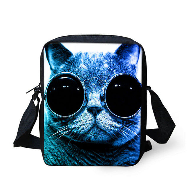 Unbelievably Cute Denim Cat Shoulder Bag - Black Paw Store