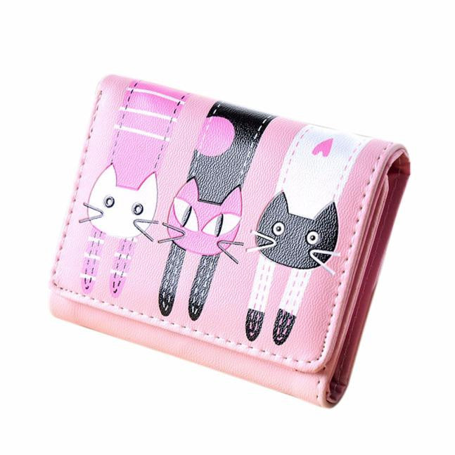 Cat Pattern Coin Purse - Black Paw Store