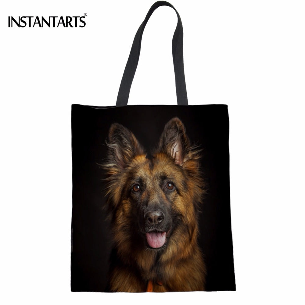 German Shepherd Shopping Tote Bags - Black Paw Store