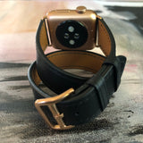 Black Double Wrap Apple Watch Band
