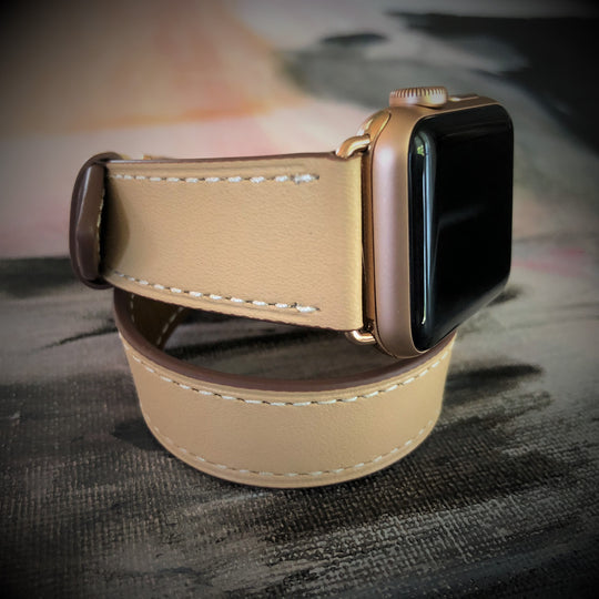 Juxli Home Double Wrap Apple Watch Band in Blush Rose