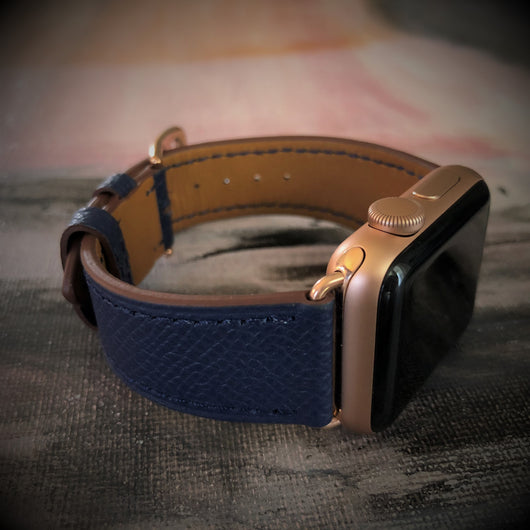 Textured Space Blue Apple Watch Band