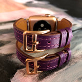 Rasin Purple Apple Watch Double Buckle Cuff