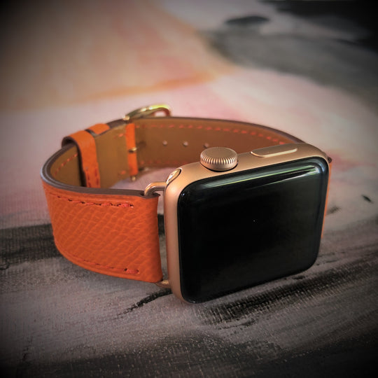 Textured Summer Orange Single Tour Apple Watch Band