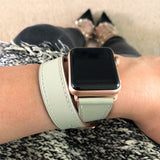 Sage Gray Double Wrap Apple Watch Band