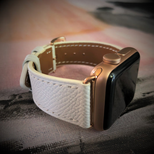 Textured White Apple Watch Band