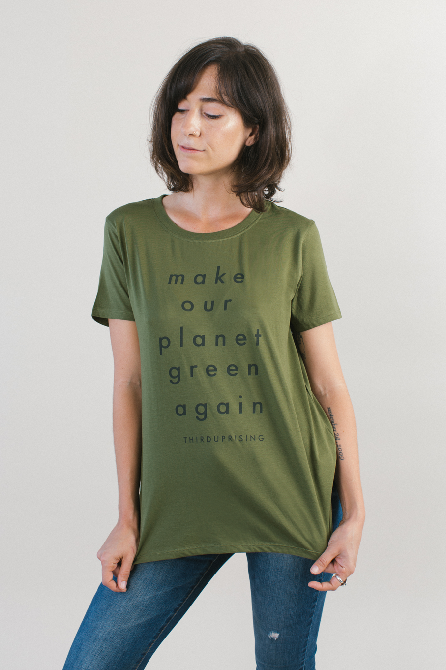 Go Green Women Pima Cotton Tee