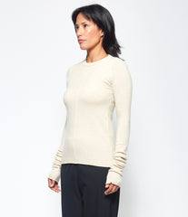 Extreme Cashmere X n°114 Latte Basic Sweater