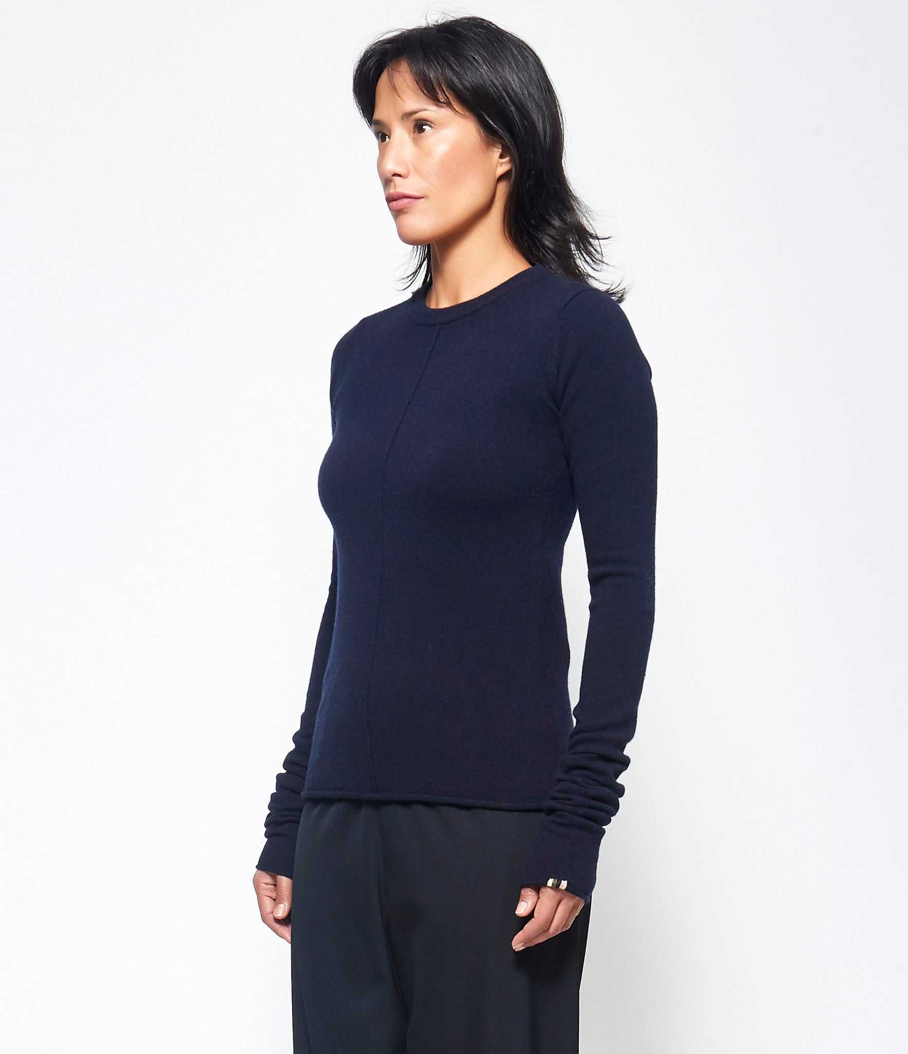 Extreme Cashmere X n°114 Navy Basic Sweater