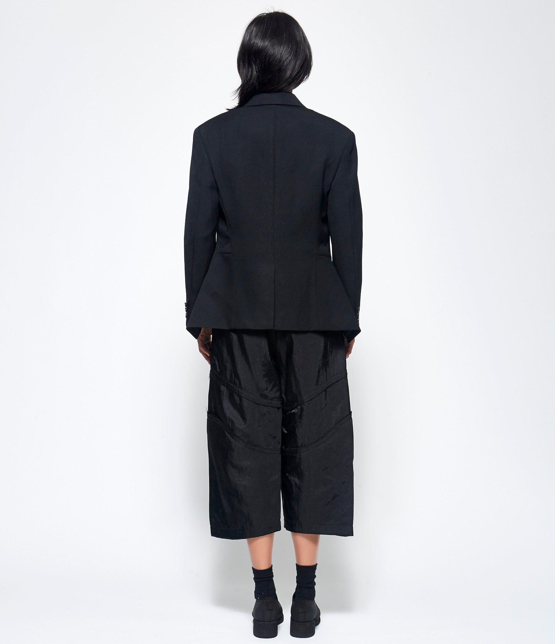 Comme Des Garcons Thick Wool Gabardine Cutout Jacket